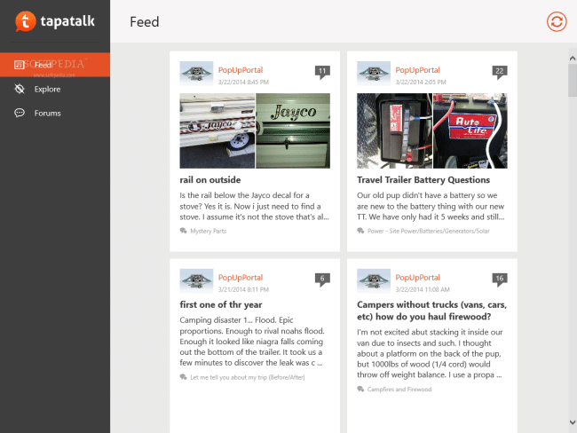 Tapatalk for Windows 8.1 - News updates from many websites, online forums