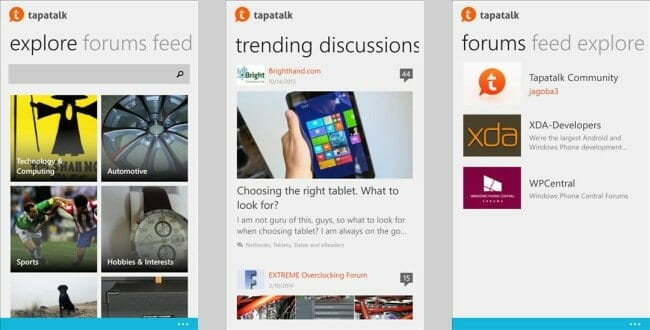 Tapatalk for Windows 10