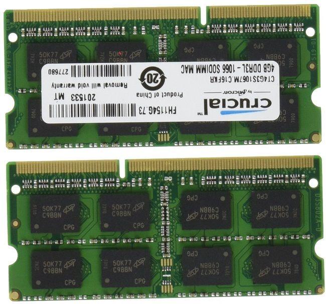 Crucial DDR3 1066 MT/s 8GB Memory