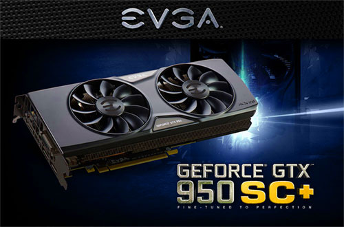 EVGA GeForce GTX 950 02G-P4-2956-KR 2GB SC+ GAMING Silent Cooling