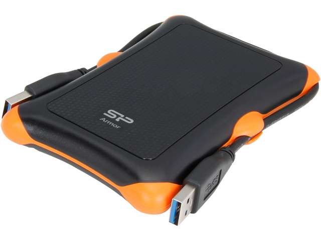 Silicon Power 1TB Rugged Armor A30 Shockproof Standard 2.5-Inch USB 3.0 Military Grade Portable External Hard Drive