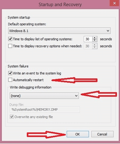 automatically restast windows 8