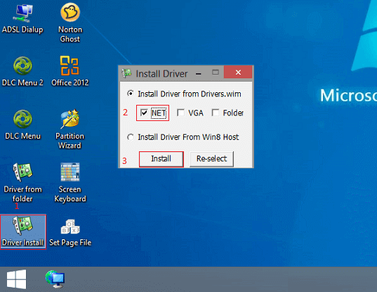 install lan driver on windows mini