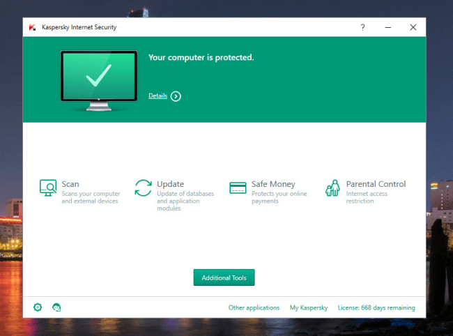 scan virus kaspersky