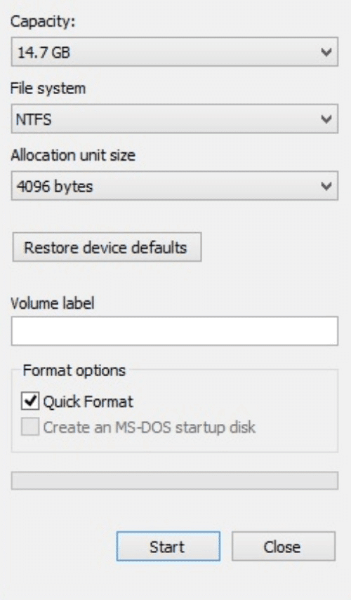 formatted as NTFS