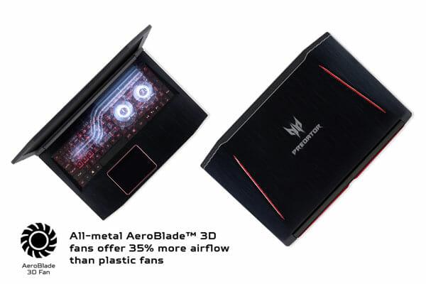 Acer Predator Overclockable Aeroblade