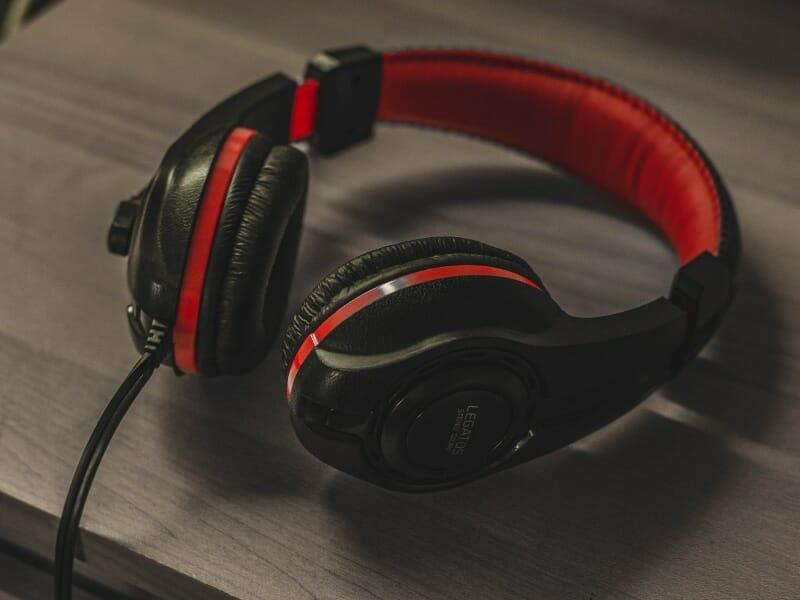 Headphones on a desk